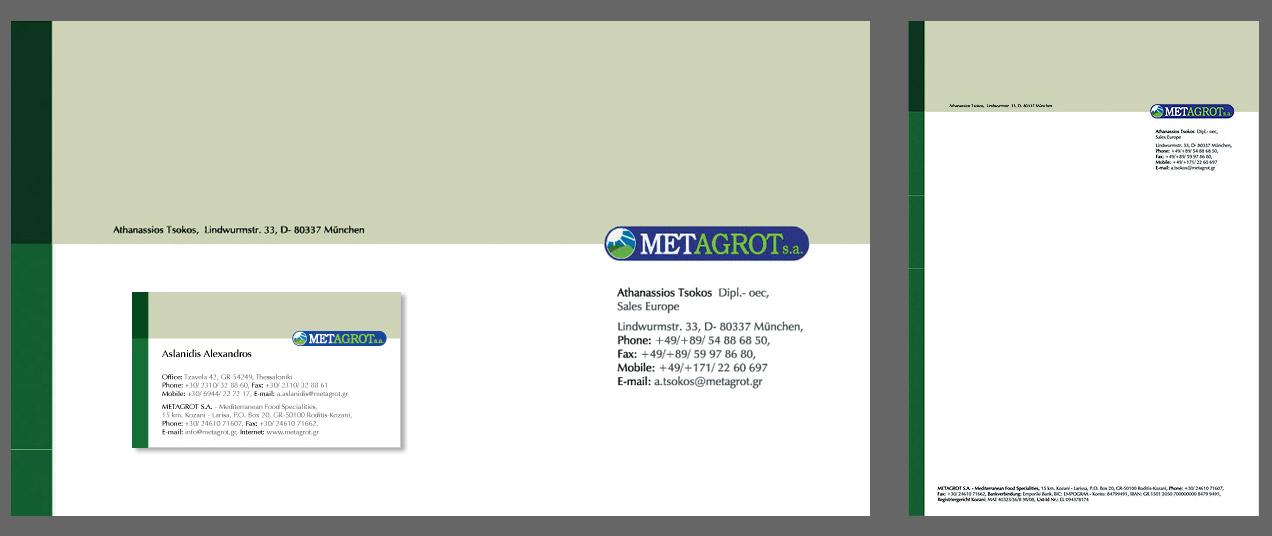 vcd+a, Letter, business card / Geschäftsbogen, Visitenkarte